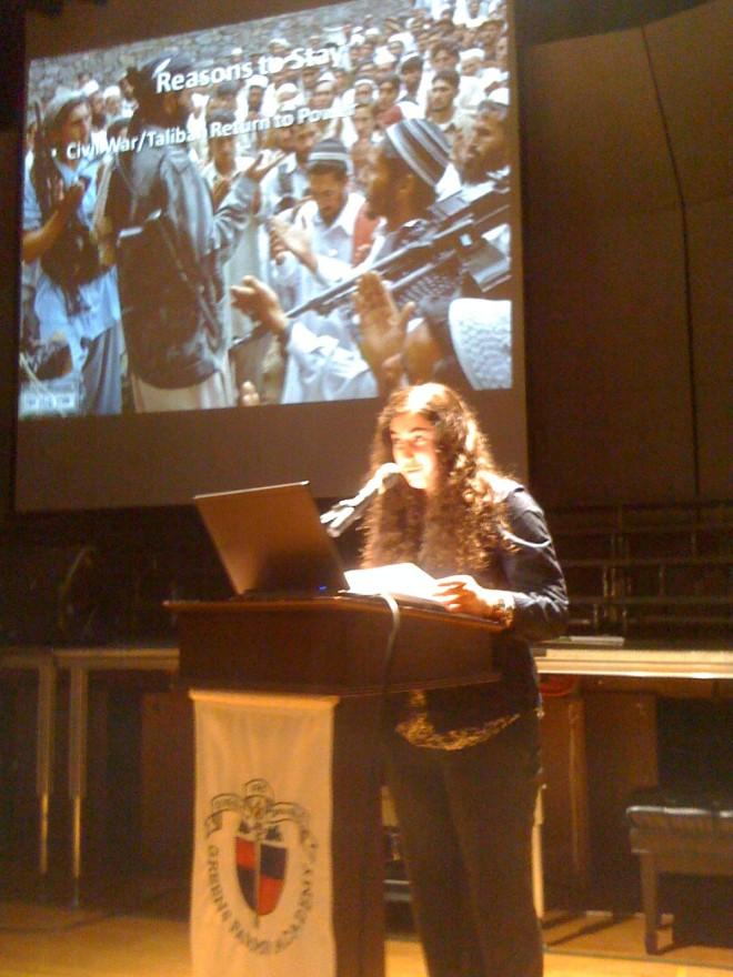 Fatima at the 20/20 Presentation