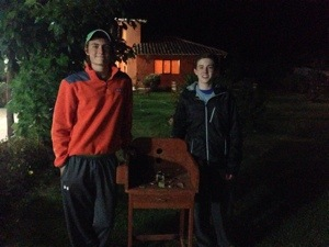 Curtis Tauck, `17 and Stephen Gallagher, `16